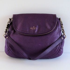 Kate Spade purple leather chain strap satchel